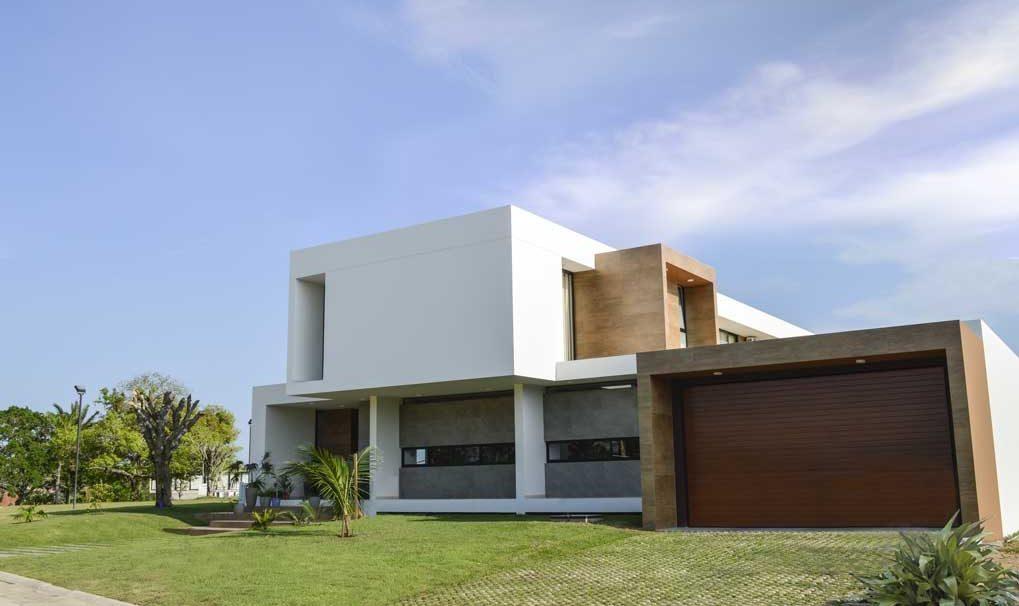 Diseño de fachada en arquitectura moderna
