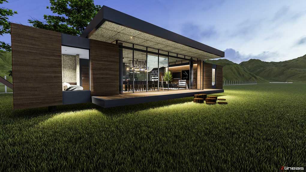 diseño cabana moderna